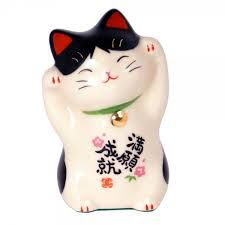 Le chat porte-bonheur japonais, Maneki-neko..