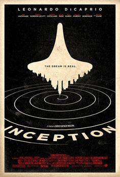 Inception 27x40 (Theatrical Size) Movie Poster by Adam Rabalais
