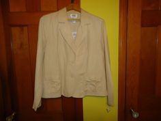 NWT Talbots Unlined Irish Linen Blend Crop Jacket. Light Weight. Size 16. #Talbots #CropJacket #Casual