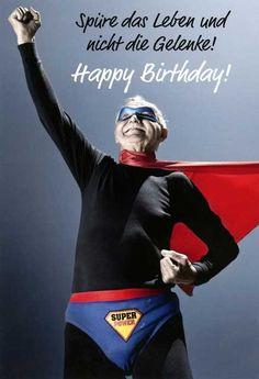 Lustige Geburtstagskarte – Spüre das Leben und nicht die Gelenke! Happy Birthday! Grußkarten Anlässe Geburtstag