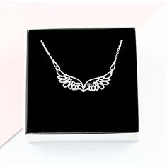 Angel Wing Necklace, Protection Necklace, Silver Wings, Angel Wings, Best Friend Gifts, Silver Necklaces, Gifts For Her, Jewellery, Diamond