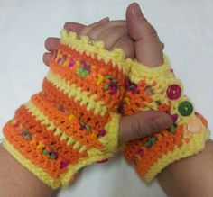 Striped Fingerless Gloves. Original pattern here. I modified it to be shorter as I do not like long gloves. http://www.ravelry.com/patterns/library/stripy-mitts