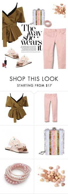 """""""Untitled #156"""" by craftsperson ❤ liked on Polyvore featuring Acler, Edie Parker, Kim Rogers, Too Faced Cosmetics and coloredjeans"""