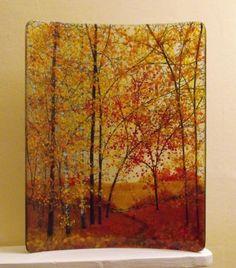 Vanda Crafts Glass Art - Autumn