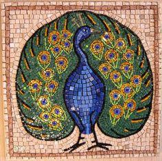 @Robin S. S. S. peacock Mosaic Rocks