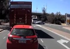 Take a look at this video from Australia showing a 4-wheeler pulling out in front of a tow truck. No one was seriously injured, according to the video description.