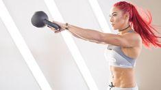 Hannah Eden kettlebell/dumbbell/jump rope workout