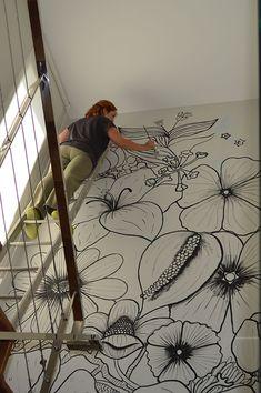 Mama Josefa: Mi jardín vertical Wall Decor, Room Decor, Wall Art, Mural Ideas, Wall Design, Interior, Fantasy Art, Quilt, Paintings