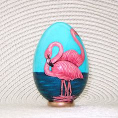 Flamingo. Turkey egg. Easter eggs. by agats on Etsy