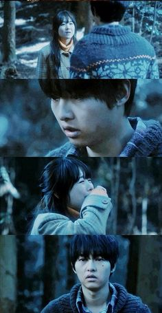 The sad part where she's trying to tell him to run away so that he can live. - a werewolf boy
