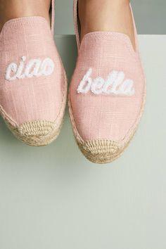 soludos pale pink ciao bella espadrilles