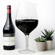 Personalised Jumbo Wine Glass Fits 2 Bottles of Wine Decanter Christmas Present    eBay