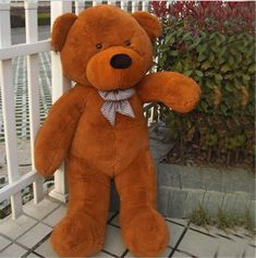 Note: This toy just bear skin, need you fill it yourself. Cute Teddy Bear Pics, Huge Teddy Bears, Teddy Bear Images, Giant Teddy Bear, Teddy Bear Pictures, Costco Bear, Soft Shell, Plush Animals, Pet Toys