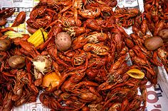 crawfish!  living in the south can make you really obese...  No receipe