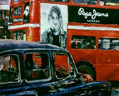 Pepe Jeans London    Wayne Roberts - Australian Artist - transparent watercolour of hot-pressed imperial full sheet paper, private collection