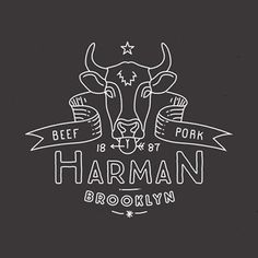Cool logo could be good for a business card idea, substituting the cow for something else. Either for Roastery or Cafe? Typography Logo, Logo Branding, Lettering, Design Poster, Graphic Design Typography, Typographie Inspiration, Great Logos, Cool Logo, Logo Nasa