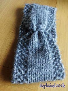 tuto patron tricot, diy headband, diy knit accessories, tricoter des accessoires faciles, modele tricot pour débutantes