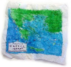 Ancient Maps using dry wax paper