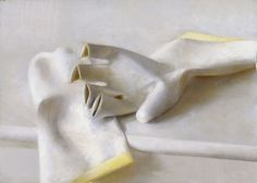 "Saatchi Online Artist: Christopher Gallego; Oil, 2003, Painting ""Rubber Gloves"""