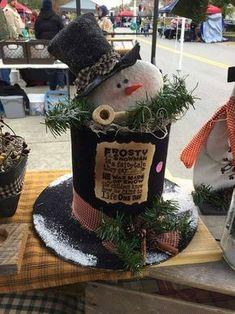 Primitive handmade frosty hats