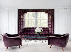 Contemporary Living Room -Fox Nahem Associates Greenwich- Connecticut