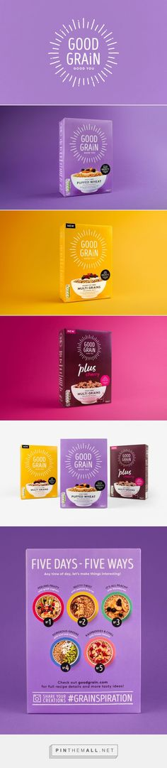 Good Grain Cereal Rebrand         on          Packaging of the World - Creative Package Design Gallery - created via https://pinthemall.net