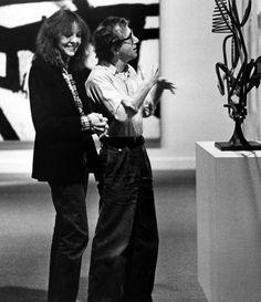 "Woody Allen y Diane Keaton en""Manhattan"", 1979"