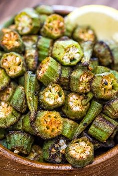 This is a simple flavorful and easy Baked Okra recipe. Seasoned with paprika salt and a pinch of cayenne this okra makes a great snack or side dish. Side Dish Recipes, Vegetable Recipes, Vegetarian Recipes, Cooking Recipes, Healthy Recipes, Cooking Okra, Vegetarian Cooking, Healthy Food, Easy Cooking