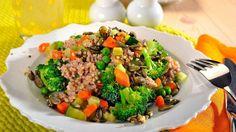 Pohanka se zeleninou a semínky Buckwheat, Beef, Cookies, Vegetables, Food, Bulgur, Meat, Crack Crackers, Biscuits