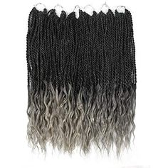 Goddess Senegalese Twist Crochet Hair Curly Ends Deep Wave Synthetic Braiding Hair Kanekalon Ombre Hair Extensions Short Senegalese Twist, Senegalese Twist Crochet Braids, Havana Mambo Twist Crochet, Senegalese Twist Hairstyles, Crochet Braid Styles, Crochet Braids Hairstyles, Loose Hairstyles, Ombre Faux Locs, Curly Faux Locs