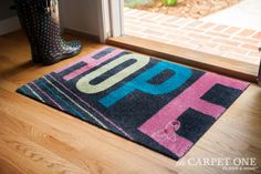 Heartfelt Hope | Pink Ribbon Welcome Mats