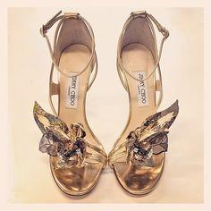 Golden soles #shoeoftheday by jimmychoo