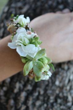 Wrist Corsage ~ Elodie Perrier Flowers