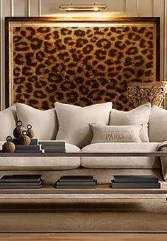 Cheetah Print Framed Art In Living Room. Try And Recreate The Printed  Framed Art.