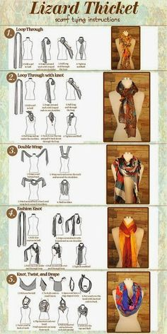 DIY: Lizard Thicket Scarf Tying Instructions