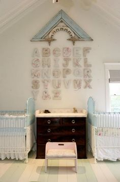 display salvaged exterior home trim as wall art (by Windsor Smith)