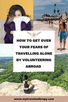 How to get over your fears of traveling alone by volunteering abroad. Learning to love being able to travel alone is one of the most awesome things that volunteering abroad has done for me! Traveling along doesn't have to be scary! #travel #solotravel #travelabroad #traveltips $200 FREE Travel Shopping Gift Card Enjoy! Volunteering around the world gives you a chance to see new places in a humanitarian way. | travel packing | travel USA | travel SE Asia | travel Asia | travel Europe | travel…