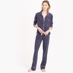 Dreamy cotton pajama set in dot : sleepwear | J.Crew