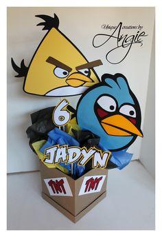 SCRAPPIN MEMORIES: angry birds centerpieces