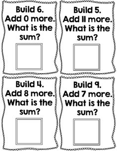 Students practice addition with cubes using this easy-to-use math freebie!