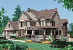 Plan W69073AM: Country, Sloping Lot, Photo Gallery, Farmhouse House Plans & Home Designs