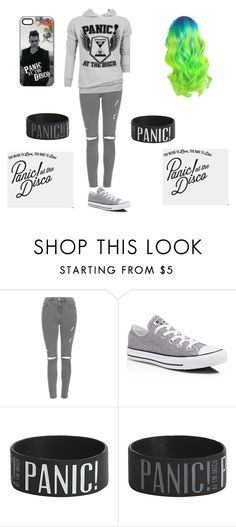 """""""Panic! at the disco outfit"""" by proudkilljoy28 on Polyvore featuring Topshop, Converse, converse, grey, Panic and BrendonUrie"""