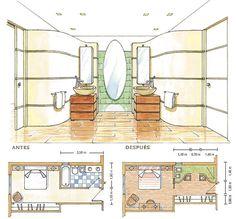 baño abierto al vestidor