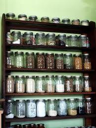 62 Ideas kitchen pantry shelves mason jars for 2019 Mason Jar Storage, Pantry Storage, Kitchen Storage, Food Storage, Storage Ideas, Kitchen Organization, Organization Ideas, Kitchen Jars, Kitchen Pantry