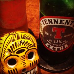 Tennent's Extra Strong Larger - Scotland beer -  9,3% with strong taste and turbe color