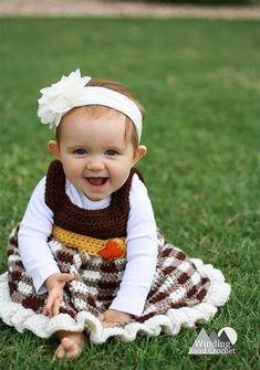 First Part of a 4 part Crochet A Long. Crochet the Simply Fall Baby dress. This dress is quick and […] Unique Crochet, Easy Crochet, Free Crochet, Autumn Crochet, Plaid Crochet, Afghan Crochet, Crochet Lace, Modern Crochet Patterns, Crochet Designs