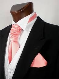 coral wedding cravat - Google Search