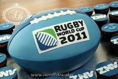 Rugby cake - but All Blacks
