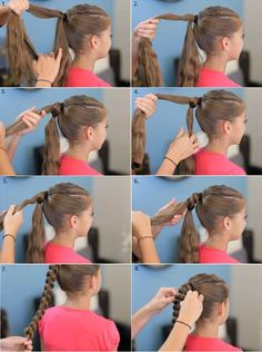 DIY Inverted Hearts Ponytail Hairstyle | iCreativeIdeas.com Follow Us on Facebook --> https://www.facebook.com/iCreativeIdeas