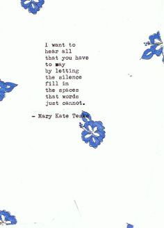 Typewriter poem #93 | Mary Kate Teske